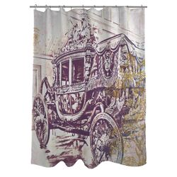 Oliver Gal Charles X Polyester Shower Curtain