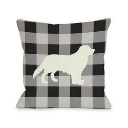Doggy D�cor Gingham Silhouette Golden Pillow