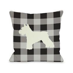 Doggy D�cor Gingham Silhouette Schnazuer Pillow