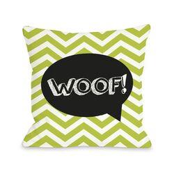 Doggy D�cor Chevron Woof Talk Bubble Pillow