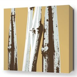 Botanicals Bamboo Stretched Graphic Art on Canvas