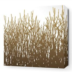 Nourish Field Grass Stretched Graphic Art on Canvas