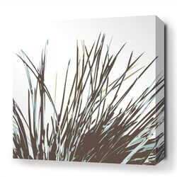 Botanicals Thatch Stretched Graphic Art on Canvas