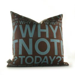 Why Not Pillow in Cornflower and Chocolate