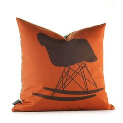 Modern Classics Pillow in Rust and Cornflower