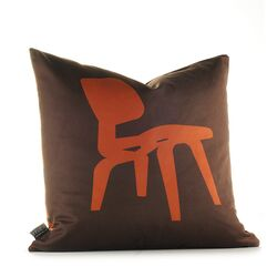 Modern Classics Pillow in Rust and Chocolate