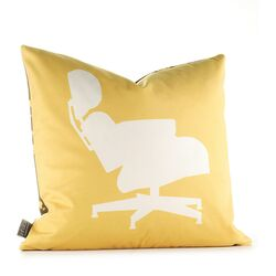 Modern Classics Pillow in Sunflower and Chocolate