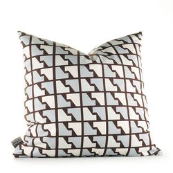 Estrella Faux Houndstooth Synthetic Pillow