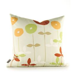 Aequorea Rhythm Scribble Pillow in Pear and Rust
