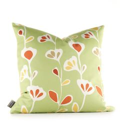 Aequorea Rhythm Stencil Pillow in Pear and Rust