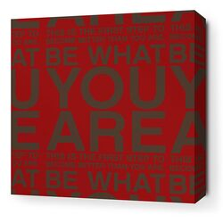 Stretched You Are Textual Art on Canvas in Scarlet and Chocolate
