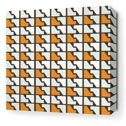 Estrella Faux Houndstooth Stretched Graphic Art on Canvas in Sunshine