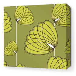 Aequorea Lotus Graphic Art on Canvas in Grass and Lime