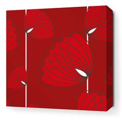 Aequorea Lotus Graphic Art on Canvas in Scarlet