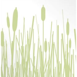 Estrella Cattails Stretched Graphic Art on Canvas
