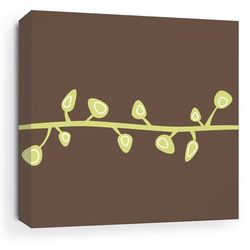 Sprout Stretched Wall Art in Chocolate