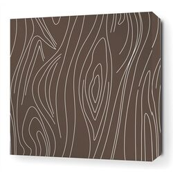 Madera Stretched Wall Art in Chocolate