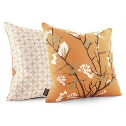 Ailanthus Throw Pillow in Sunshine