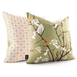 Ailanthus Throw Pillow in Grass / Sunshine