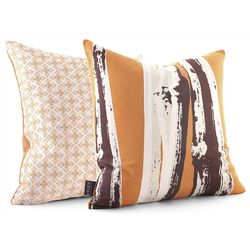 Bamboo Throw Pillow in Sunshine