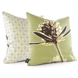 Propeller Throw Pillow in Grass