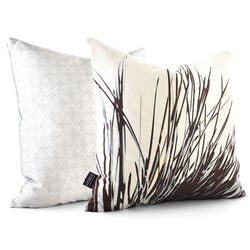 Botanicals Thatch Suede Throw Pillow