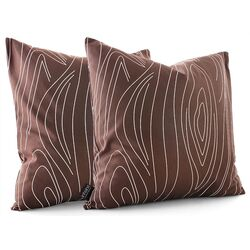 Madera Throw Pillow in Chocolate