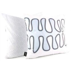 Kelp Throw Pillow in Aqua
