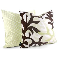 Reef Throw Pillow in Moss