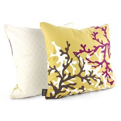 Coral Throw Pillow in Plum