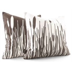Cattails Throw Pillow in Chocolate