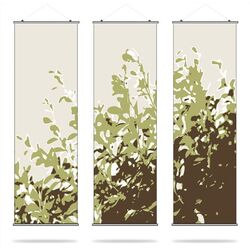 Inhabit-Foliage Slat Hanging Panel in Grass - Center