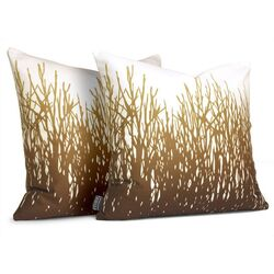 Field Grass Throw Pillow in Amber