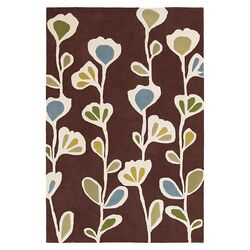 Stencil Rug in Chocolate