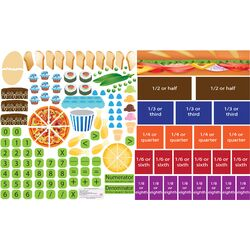 Peel, Play and Learn Fractions Wall Play Set