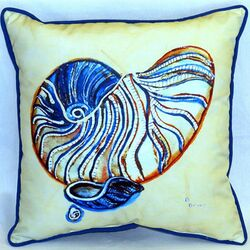 Nautilus Indoor/Outdoor Throw Pillow