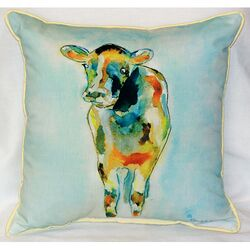 Cow Indoor/Outdoor Throw Pillow
