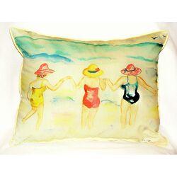 Ladies Wading Indoor/Outdoor Lumbar Pillow