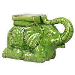 Ceramic Elephant Figurine