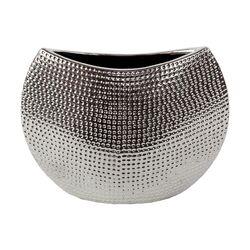 Ceramic Vase in Chrome Silver