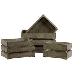 4 Piece Wooden Storage Box