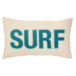 Nautical Applique Surf Throw Pillow