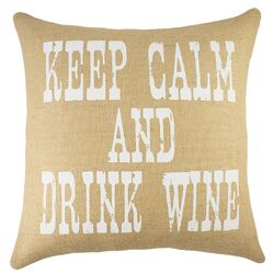 Keep Calm And Drink Wine Pillow