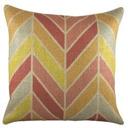 Chevron Burlap Pillow