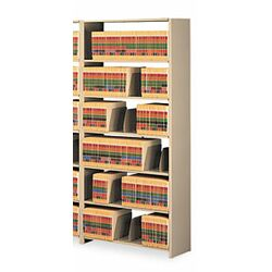 Snap-Together 7-Shelf Closed Add-On Open Filing Unit