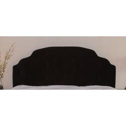 Lyssa Queen/Full Button Tufted Suede Headboard