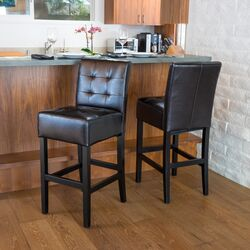 Princeton Leather Bar Stool