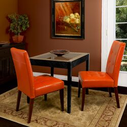 Talib Tufted Leather Dining Chair