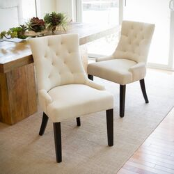 Vanda Tufted Beige Dining Side Chair