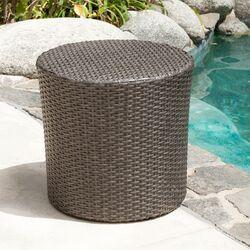 Newman Wicker Barrel Side Table